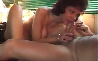 Hot older lady sucking gumshoe rimming and drink cum