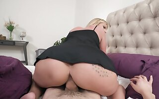 Blonde wife gives habitual user to young step son then fucks with him
