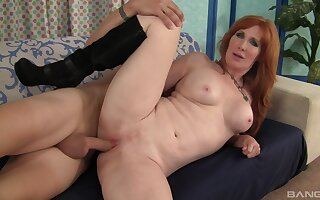 Fine ass redhead fucked and made to swallow by her stepson