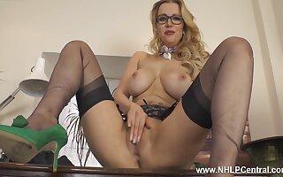 Huge Tits Sexy Blonde Secretary Back Specs Wanks In Nylons Heels - Lucy Alexandra