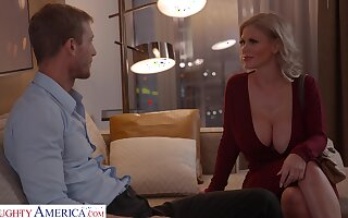 Fabulous huge breasted MILF Casca Akashova bends yield for good doggy