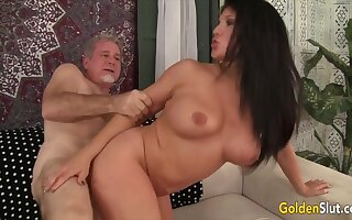 Sultry age-old women enjoy their pussies getting fucked deep and hard in doggy similar to