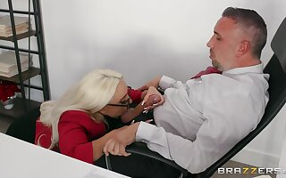 Best inches for the thirsty secretary after a wild blowjob