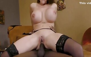 Swallowing Two Big Cumshots - Threesome