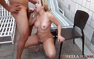 blonde milf primarily the pool - Thick