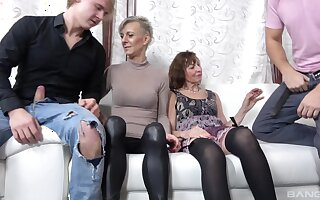 Naughty full-grown sluts Iveta Stepanova and Lucy Blond in orgy