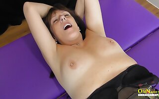 OldNannY Full-grown Lesbians Fingering and Toying