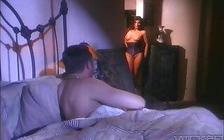 Retro video be worthwhile for stunning pornstar Sydnee Steele getting fucked hard