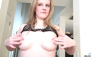 Sweet blonde Chelsea Haulier strips down with the addition of masturbates on the floor