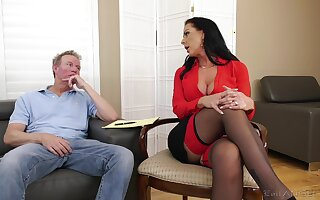Insolent mature is inviting attracted to this man's dick