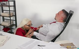 Secretary sure loves pleasing her boss with insane sex
