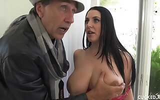 Big Boob MILF Cuckolds Pathetic Hubby By Fucking Her Photographer - Angela wan