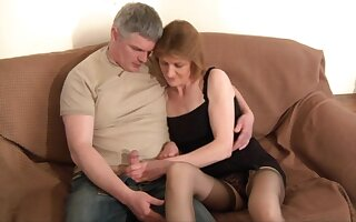 Pussy licking leads to outcast fucking with reference to adorable mature wife Cee