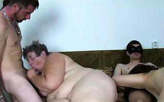 Thorough oriental europe granny fucked at amateur orgy