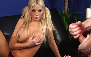 Nice bosom and ass Emma C loves flashing will not hear of body to will not hear of boss