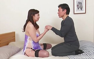 Amateur homemade photograph of Japanese wife Otowa Ayakoa getting dicked