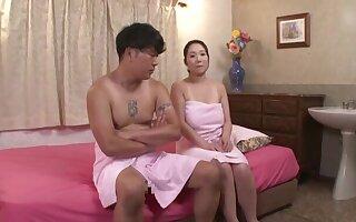 Nuru massage with with an eye to fucking makes chubby Nanase Sana cum
