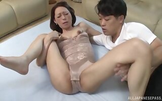 Quickie no hope night screwing with a skinny Japanese matured neighbor