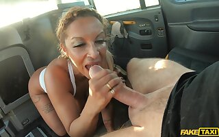 Quickie fucking in the car with busty of age slut Talula Thomas