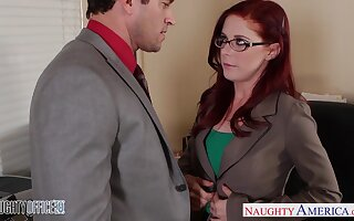 Career woman Penny Pax is sexual congress with twosome of her co-workers