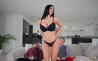 Crazy action give the big ass wife riding the stepson's cock like a goddess