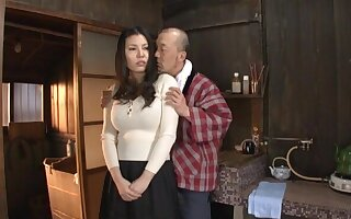 Quickie gender at dwelling with busty Japanese housewife Sophia Takigawa
