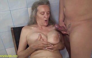 ugly grandma be proper of big boob sweetheart