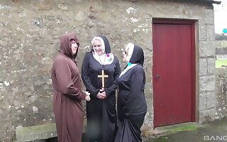 Dirty mature nuns Trisha and Claire Knight have extraordinary threesome