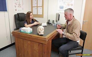 Nurses enjoy soft CFNM oral porn with a fortuitous man