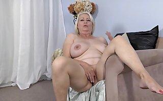 Hot chubby granny amazing solo photograph