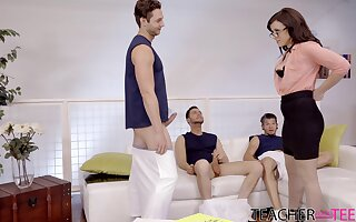 Anal for the hot MILF in scenes of group XXX