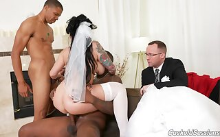 Bride gets blacked on her bridal day