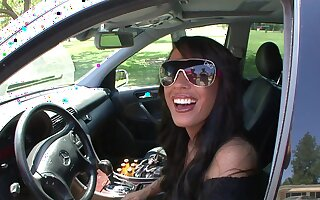 Smoking hot Mya Nichole makes a guy happy overwrought riding his learn of