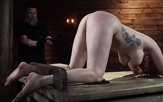 Lauren Phillips gets rough BDSM training in the sex lock-up