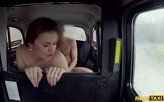 MILF plays rough on dick in fake taxi tryout