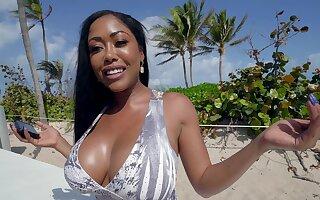 Interracial sex on the beach prevalent fetching black Moriah Mills