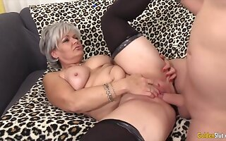 Sexy old woman taking hard dicks in their mature pussy and enjoy getting fucked good