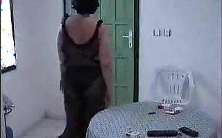 Two Turkish men fuck a mature woman