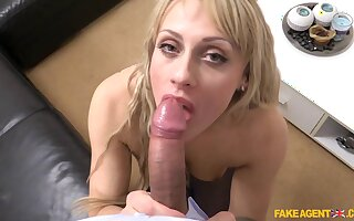 Blonde milf Brittany Bardot agrees to be recorded during her casting