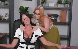 Matures love to have fun at work - Penny Pax and Reagan Foxx