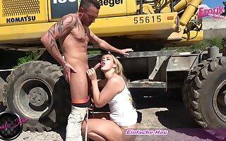 German amateur mifl seduced in public