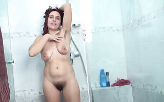 Kittyfall has a sexy and soapy shower today - Compilation - WeAreHairy
