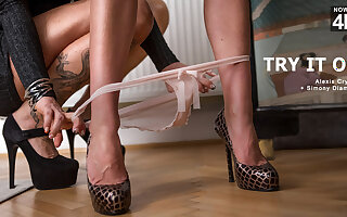 Alexis Crystal & Simony Diamond & Nick Gill in Try It On - StepMomLessons