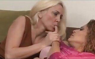 Mature lesbians watching porn