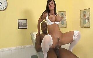 Crazy pornstar Lisa Ann in horny big cocks, blowjob porn movie