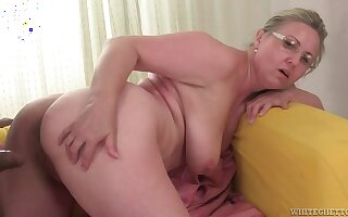 Horny Granny Vs Big Black Penis - Interracial Porn