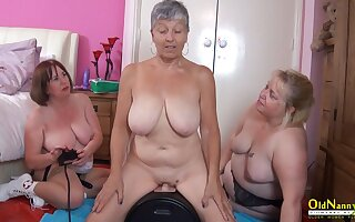 OldNannY Twosome British Matures and Carnal knowledge Machine
