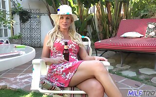 Hot together with wild busty bazaar MILF Charlie Daniels cannot get enough immigrant doggy