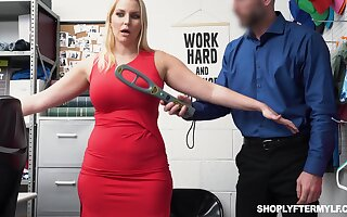 Gorgeous milf Vanessa Coop gets fucked and jizzed for shoplifting