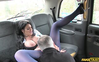 Candy Sexton licks will not hear of driver's ass during a random hookup